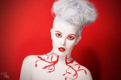 Medusa Weiß Bodypainting