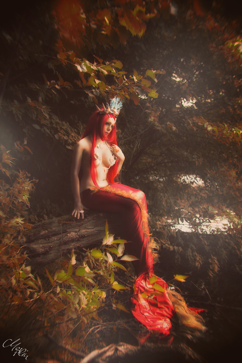 Meerjungfrau Mermaid Shooting Kunst Art