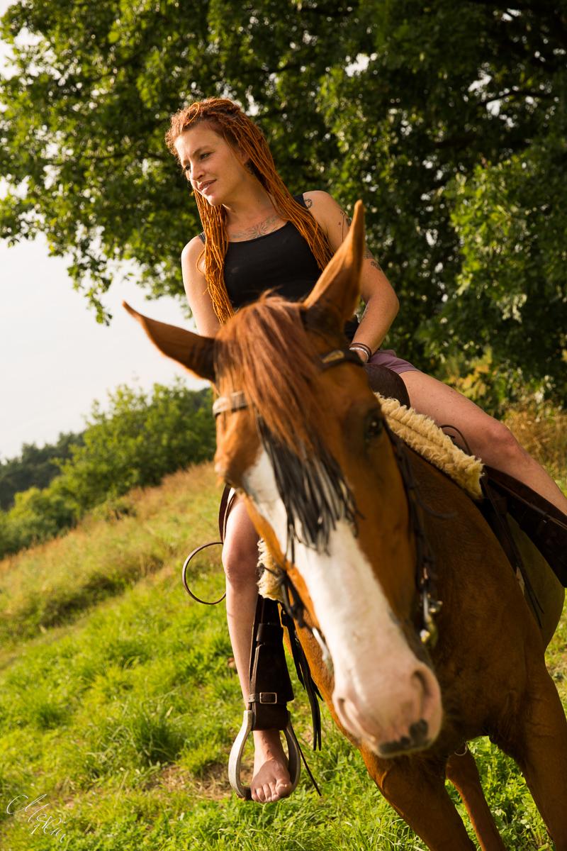 Pferd Mensch Shooting Merlin1
