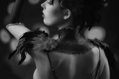 Black Feathers Bodypainting Schwarze Federn