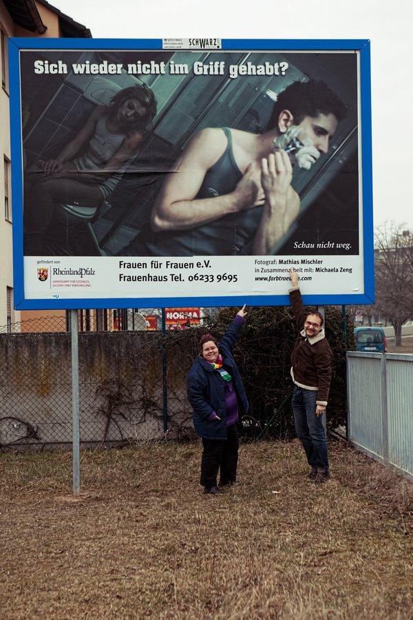 Häusliche Gewalt Keine Gewalt gegen Frauen No Violence Merlin1 Plakat Frauenhaus