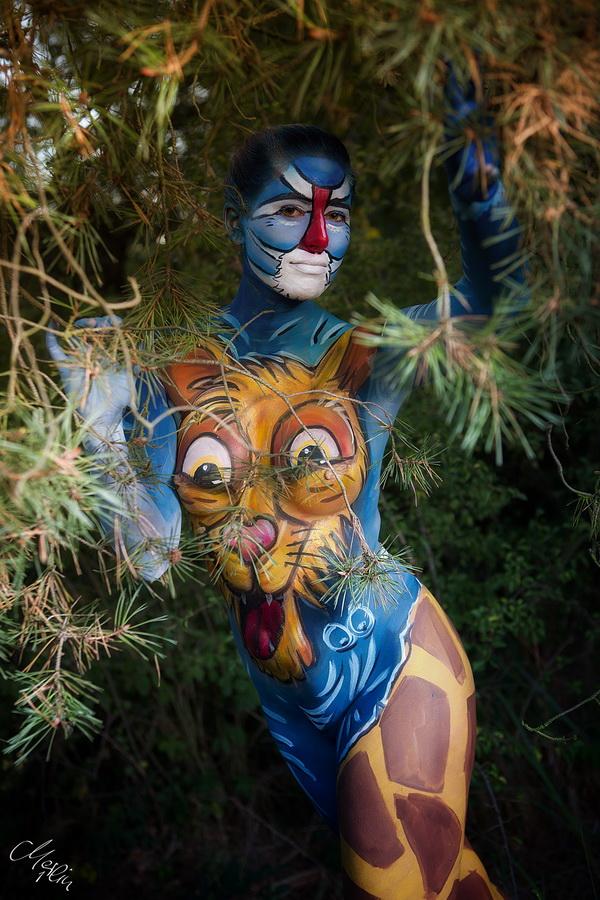 Safari Bodypainting Outdoor König der Löwen Merlin1