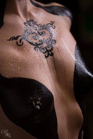Tatoo Bodypainting Tribal Ornament Nude Haut
